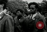Image of Black Panther Party march and demonstration Oakland California USA, 1968, second 2 stock footage video 65675029943