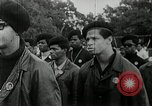 Image of Black Panther Party march and demonstration Oakland California USA, 1968, second 10 stock footage video 65675029943