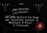 Image of HMS Suffolk Portsmouth England, 1926, second 4 stock footage video 65675029968