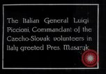 Image of General Luigi Piccioni Prague Czechoslovakia, 1918, second 1 stock footage video 65675029975