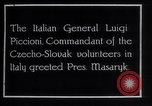 Image of General Luigi Piccioni Prague Czechoslovakia, 1918, second 2 stock footage video 65675029975