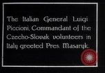 Image of General Luigi Piccioni Prague Czechoslovakia, 1918, second 4 stock footage video 65675029975