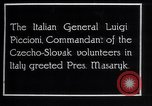 Image of General Luigi Piccioni Prague Czechoslovakia, 1918, second 5 stock footage video 65675029975