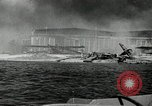 Image of wrecked planes Pearl Harbor Hawaii USA, 1941, second 1 stock footage video 65675029980