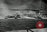 Image of wrecked planes Pearl Harbor Hawaii, 1941, second 5 stock footage video 65675029980