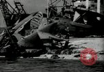 Image of wrecked planes Pearl Harbor Hawaii USA, 1941, second 10 stock footage video 65675029980