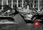 Image of wrecked planes Pearl Harbor Hawaii USA, 1941, second 12 stock footage video 65675029980