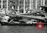 Image of wrecked planes Pearl Harbor Hawaii, 1941, second 15 stock footage video 65675029980