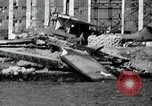 Image of wrecked planes Pearl Harbor Hawaii, 1941, second 17 stock footage video 65675029980