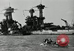 Image of Repairs undertaken after Pearl Harbor attack Pearl Harbor Hawaii USA, 1941, second 8 stock footage video 65675029994