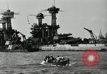Image of Repairs undertaken after Pearl Harbor attack Pearl Harbor Hawaii USA, 1941, second 10 stock footage video 65675029994