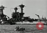 Image of Repairs undertaken after Pearl Harbor attack Pearl Harbor Hawaii USA, 1941, second 11 stock footage video 65675029994