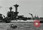 Image of Repairs undertaken after Pearl Harbor attack Pearl Harbor Hawaii USA, 1941, second 12 stock footage video 65675029994