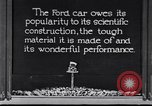 Image of Ford car tested United States USA, 1923, second 1 stock footage video 65675030028