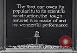 Image of Ford car tested United States USA, 1923, second 3 stock footage video 65675030028