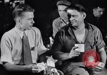 Image of workers have lunch Detroit Michigan USA, 1952, second 1 stock footage video 65675030075