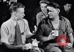 Image of workers have lunch Detroit Michigan USA, 1952, second 5 stock footage video 65675030075