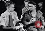 Image of workers have lunch Detroit Michigan USA, 1952, second 8 stock footage video 65675030075