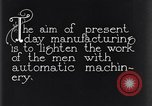 Image of automatic machinery Dearborn Michigan USA, 1928, second 9 stock footage video 65675030169