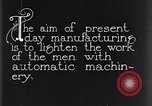 Image of automatic machinery Dearborn Michigan USA, 1928, second 11 stock footage video 65675030169