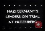 Image of Nuremberg Trials Nuremberg Germany, 1945, second 6 stock footage video 65675030216