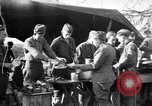 Image of American soldiers being fed at a field kitchen France, 1918, second 9 stock footage video 65675030276