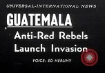 Image of rebellion Guatemala, 1954, second 1 stock footage video 65675030287