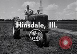 Image of tractor powered generator Hinsdale Illinois USA, 1954, second 4 stock footage video 65675030289