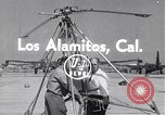 Image of rocket powered helicopter Los Alamitos California USA, 1954, second 1 stock footage video 65675030297