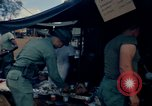 Image of sandbagged bunker Vietnam, 1965, second 10 stock footage video 65675030365