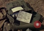 Image of helicopter rappel Ankhe South Vietnam, 1966, second 3 stock footage video 65675030386