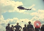 Image of helicopter rappel Ankhe South Vietnam, 1966, second 9 stock footage video 65675030386