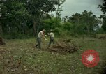 Image of clearing brush Ankhe South Vietnam, 1965, second 10 stock footage video 65675030389