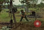 Image of stacked supplies Ankhe South Vietnam, 1965, second 9 stock footage video 65675030390