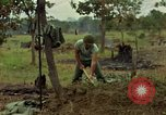 Image of stacked supplies Ankhe South Vietnam, 1965, second 11 stock footage video 65675030390