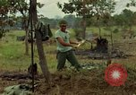 Image of stacked supplies Ankhe South Vietnam, 1965, second 12 stock footage video 65675030390