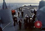 Image of HUS1 UH-34D Seahorse lands on USS North Hampton Atlantic Ocean, 1962, second 5 stock footage video 65675030397