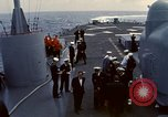 Image of HUS1 UH-34D Seahorse lands on USS North Hampton Atlantic Ocean, 1962, second 10 stock footage video 65675030397