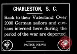 Image of Two Thousand German internees repatriated Charleston South Carolina USA, 1919, second 1 stock footage video 65675030401