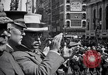 Image of inductees in civilian clothes march New York United States USA, 1917, second 4 stock footage video 65675030403
