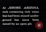 Image of open-pit mine Jerome Arizona USA, 1927, second 9 stock footage video 65675030407