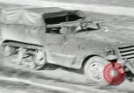 Image of half-track truck blending tank track and tires Akron Ohio USA, 1941, second 1 stock footage video 65675030484
