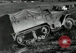 Image of half-track truck blending tank track and tires Akron Ohio USA, 1941, second 8 stock footage video 65675030484