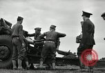 Image of Visiting Latin American officers learn about 155mm howitzer Fort Sill Oklahoma USA, 1942, second 4 stock footage video 65675030493