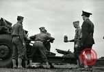 Image of Visiting Latin American officers learn about 155mm howitzer Fort Sill Oklahoma USA, 1942, second 6 stock footage video 65675030493
