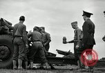 Image of Visiting Latin American officers learn about 155mm howitzer Fort Sill Oklahoma USA, 1942, second 7 stock footage video 65675030493