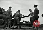 Image of Visiting Latin American officers learn about 155mm howitzer Fort Sill Oklahoma USA, 1942, second 8 stock footage video 65675030493