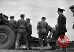Image of Visiting Latin American officers learn about 155mm howitzer Fort Sill Oklahoma USA, 1942, second 12 stock footage video 65675030493