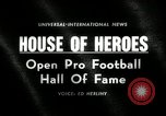 Image of Pro Football Hall of Fame Canton Ohio USA, 1963, second 1 stock footage video 65675030506