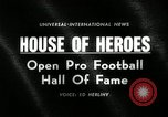 Image of Pro Football Hall of Fame Canton Ohio USA, 1963, second 2 stock footage video 65675030506
